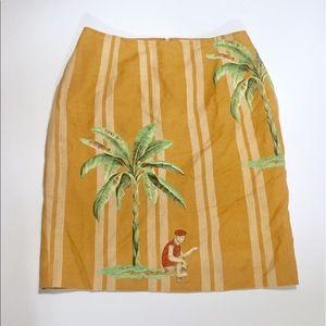 Silk Club Linen Banana Tree Skirt